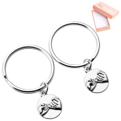 "Top Plaza 2pcs/Set ""Pinky Promise"" Charm BFF Best Friend Forever Keychain Keyring Friendship"