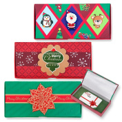 6 Christmas Gift Card Holder Boxes / Christmas Money Card Holder Boxes; Exquisite Designs by Gift Boutique