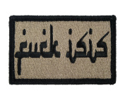 Fk Isis Arabic Style English Tactical Funny Hook and loop Fully Embroidered Morale Tags Patch