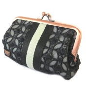 "Wallet 'Lollipops'black lace - 14x8x3 cm (5.51""x3.15""x1.18"")."