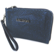 "Zippered coin purse 'Lollipops'shiny navy - 15x11x1.5 cm (5.91""x4.33""x0.59"")."
