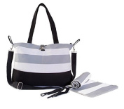 BabyBee Unisex Canvas Nappy Bag with Changing Pad and Hook and loop Stroller Straps