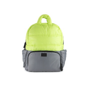 7AM Enfant Brooklyn Bag, Neon Lime/Cement