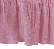 Zack & Tara Crib Skirt - Stars in Pink
