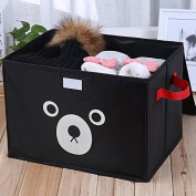 Foldable Oxford cloth Canvas Storage Box, Convenient Storage Box with Lid