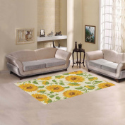 JC-Dress Area Rug Cover Sunflowers Modern Carpet Cover 1.5mx0.9m