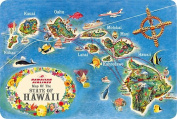 Hawaiian Vintage Postcards Pack of 30 - Hawaiian Airlines State Map