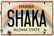 Hawaiian Vintage Postcards Pack of 30 - Shaka Licence Plate