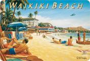 Hawaiian Vintage Postcards Pack of 30 - Waikiki Beach II by Kerne Erickson