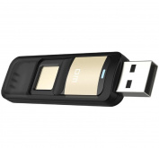 Farsler 64GB High-speed Recognition Fingerprint Encrypted Pen Drive Dual Storage Security Memory USB Stick