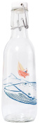 Love Bottle USA Manufactured Glass Water Bottle, BPA Free, 500ml, Whale