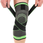 Knee Brace Support Compression Knee Sleeve+Patellar Knee Strap-Relieves Patella Tendonitis-Breathable Knee brand for Hiking, Soccer, Arthritis,Running, Basketball, Meniscus, Sports-One Size Fits Most