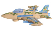 F-16 Fighter Jet US Millitary Air Force Combat Aeroplane Toy, Battery Operated, Bump and Go Action, with Flashing Lights and Sounds