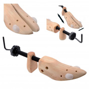 Top Home Solutions® 2 x Mens Gents Womens Ladies Wooden Shoe Trees Stretchers Wooden Shapers Three Way Expanders for Bunions - Expands Length, Width & Height of Tight Footwear