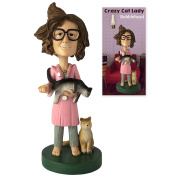 Crazy Cat Lady Collectible Bobblehead Figure