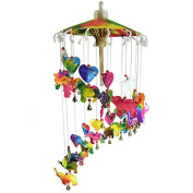 New Elephant Mobile Wind Chime Umbrella Saa Mulberry Paper Crib Nursery Hanging