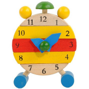 Transer® Toys for Kids - Hand Made Wooden Clock- Children Learn Time Clock Educational Learning Toy Gift
