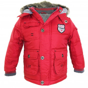 Famous Ex Chainstore Baby Boys Winter Hooded Jacket Toddler Coat Kids Varsity Team Fleece Jacket Age 9-12 Months, 12-18 Months, 18-23 Months, 2-3 Years