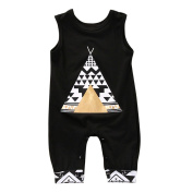 Igemy Fashion Newborn Infant Baby Print Romper Jumpsuit Clothes Outfits