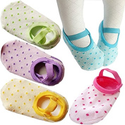 5Pairs Toddler Anti Slip Socks for 8-36 Months Infants Baby Girl Mary Jane No-Show Crew Boat Ankle Socks Footsocks sneakers