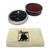 Famaco 50ml Oxblood Shoe Polish & Polishing Cloth Shoe Care Kit For Dr Martens & Similar