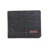 Heritage Traditions Mens Blue Lined Tweed Wallet
