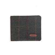 Heritage Traditions Mens Green Lined Tweed Wallet