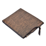 Mens Leather Wallet Slim Mens Bifold Wallet With Coin Pocket (Transverse