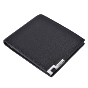 RFID Blocking Mens Soft Leather Bifold Wallets With ID Window
