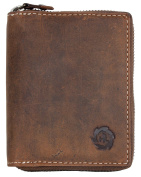 Natural Zip-around Genuine Leather Wallet Born to Be Wild