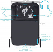 Kick Mats Car Organisers, Car Seat Back Protectors with Clear iPad Holder by Termichy Waterproof Material