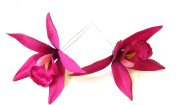 2 x Large Hot Pink Orchid Flower Hair Pins Vtg Rockabilly Beach Clip 1950s 1323 *EXCLUSIVELY SOLD BY STARCROSSED BEAUTY*