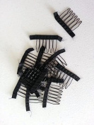 A pair (2 pieces) of safe wrapped Wig combs to secure your wigs