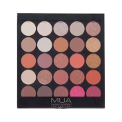 MUA - BURNING EMBERS EYESHADOW PALETTE - 25 EARTHY NEUTRAL PRETTY SHADES