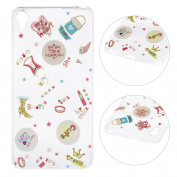 Xperia XA Case,Sony Xperia XA Cover,Rosa Schleife Protective Slim Light-Weight Crystal Clear TPU Silicone Back Cover Skin Soft Case with Cute Pattern for Sony Xperia XA