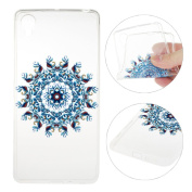 Xperia X Case,Sony Xperia X Cover,Rosa Schleife Protective Slim Light-Weight Crystal Clear TPU Silicone Back Cover Skin Soft Case with Cute Pattern for Sony Xperia X