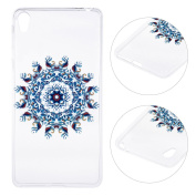 Xperia E5 Case,Sony Xperia E5 Cover,Rosa Schleife Protective Slim Light-Weight Crystal Clear TPU Silicone Back Cover Skin Soft Case with Cute Pattern for Sony Xperia E5