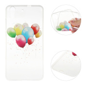 Huawei Honour 5A Case,Huawei Y6 II Cover,Rosa Schleife Protective Slim Light-Weight Crystal Clear TPU Silicone Back Cover Skin Soft Case with Cute Pattern for Huawei Honour 5A/Huawei Y6 II