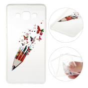Galaxy A5 Case,Galaxy A5 2015 Cover,Rosa Schleife Protective Slim Light-Weight Crystal Clear TPU Silicone Back Cover Skin Soft Case with Cute Pattern for Samsung Galaxy A5 2015 Version