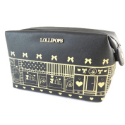 "Make-up case 'Lollipops'black - 20x13x9 cm (7.87""x5.12""x3.54"")."