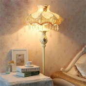 Creative Light-European-style garden decorative cloth living room floor lamp bedroom bedside lamp sofa table vertical