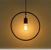 Loft Round Retro Industrial Geometric Cage Pendant lamp Ceiling light Simple