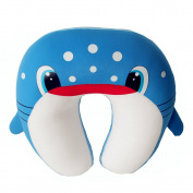Dolphineshow Animal Shape Shark Shape U Cushion Kids Travel Pillow Blue and White