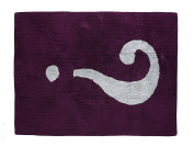 Aratextil. Kids Rug 100% Cotton Machine washable Collection interrogacion Aubergine _ Gris 120 x 160 cms