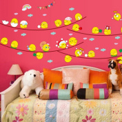 Cartoon Cute Eggs Chickens Expressions Rainbow Wall Sticker Decal Home Decor PVC Murals Wallpaper House Art Picture Living Room Adult Senior Teen Kids Baby Bedroom Decoration