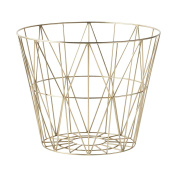 Ferm Living Wire Basket - Brass - Large - h45 x b60 cm