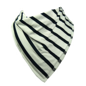 Single Baby Bandana Dribble Bib 100% Cotton with Fleece Lining, Multiple Stripe