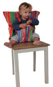 Sack'n seat, the Original Portable high chair, Safety seat chair harness, Travel high chair, Stripes