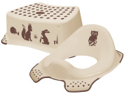 Forest Friends Toddler Toilet Training Seat & Step Stool Combo