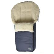 '100% Lambswool/Sheepskin Wool Winter' Sheepskin Footmuff Sheepskin Foot Muff for Pushchair in different colours